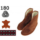 wholesale Shoes: Slippers, slippers  for men, leather, wool, model 1