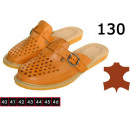 130 shoes, slippers for men, leather,