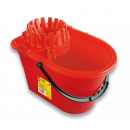 Bucket with squeezer 14 l red