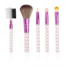 Großhandel Make-up Accessoires: 4025 Eine Reihe von Make-up Pinsel 5p.