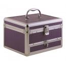 Koffer mit Metallschublade für Kosmetika