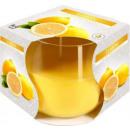 candela profumata al limone in vetro