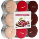 Scented candles, tealight: chocolate & cherry
