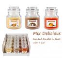 grossiste Bougies & bougeoirs: Bougie parfumée  dans un verre avec couvercle MIX D