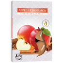 Scented candles, tealight: Apple and Cinnamon
