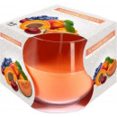 candela profumata estate frutta in vetro
