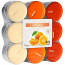 Scented candles, tealight: Orange 18 pcs.