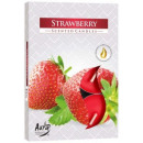 Scented candles, tealight: Strawberries