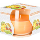 Tropical fruit Scented candle in glass