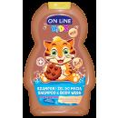 KIDS Shampooing et Gel Lavant 2en1 Chocolat 250ml