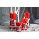 RENIFERE Kerze, Weihnachtsdekoration 14cm RALLY