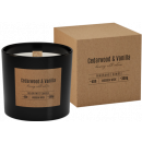 Scented candle with a wooden wick Cedar & Vani