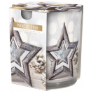 Scented candle in glass and foil Winter Star