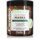 Ziołowa maska z dodatkiem henny - BRĄZOWA 250ml