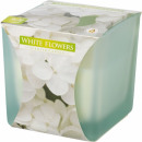 Scented candle in frosted glass White Flowers
