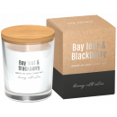 Soybean scented candles in glass bay leaf - hedgeh