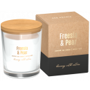 Soybean scented candles in glass Freesia - Pear