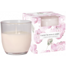 SCENTED CANDLES IN PASTEL GLASS Cherry Blossom -
