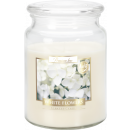 LARGE SCENTED CANDLE WITH A LID White Flowers