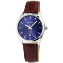Akzent men's watch with imitation leather stra