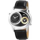 Horloge met imitatie lederen armband