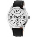 Accent horloge met imitatie lederen armband
