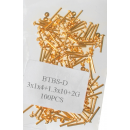 grossiste Accessoires & Pièce détachée: Mittelbandstege, or (paquet de 100) - 16mm