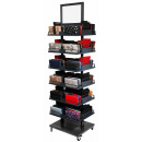 Stocked purses Display with 140 wallets