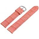 Großhandel Fahrräder & Zubehör: Echtlederband rosa, 20 mm, rosa Naht