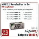 Maxell actiepakket knoopcellen met 321, 364,