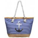 Damen Handtasche aus Textil mit Anker Motiv, Maße: