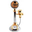 Miniaturuhr - altes Telefon - Größe 11,7 cm