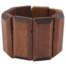 wholesale Accessories & Spare Parts: Cham Cham bangle made of wood in brown, color: 1