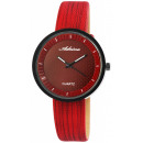 Adrina ladies watch with imitation leather strap,