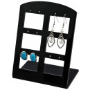 wholesale Business Equipment: Earring Display for 6 pairs, black, 10 cm x 1