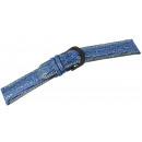 grossiste Accessoires & Pièce détachée: Sangles en cuir véritable, bleu - 18 mm