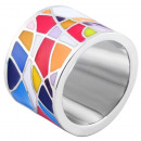 Accent ladies' ring made of stainless steel