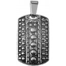 Accent stainless steel pendant in silver-colored /