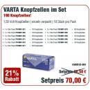 Varta Actiepakket knoopcellen Display 321, 36