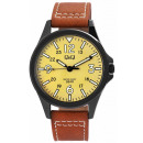 wholesale Jewelry & Watches: Q&Q men's watch with leather strap