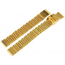 Edelstahl Uhrenarmband, goldfarbig, 12 mm