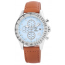 Pierrini men's watch with real leather strap