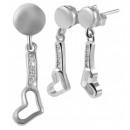 925 Silber Schmuckset mit Ohrring und Anhänger, 92