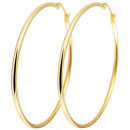 grossiste Chaines: Accent inoxydable Hoops, or IP, couleur or, Dur