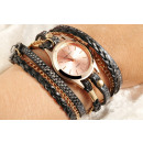wholesale Artificial Flowers: Donna Kelly Ladies Watch with Leather Imitation Wr