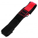Klettband Textil Armband in rot, , flach, 14 mm
