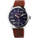Excellanc unisex watch with imitation leather stra