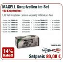 Maxell actiepakket knoopcellen 321, 362, 364, 371