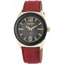 Accent Watch with imitation leather bracelet
