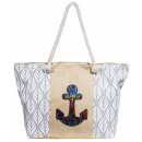 Ladies handbag made of textile, dimensions: 58x36x